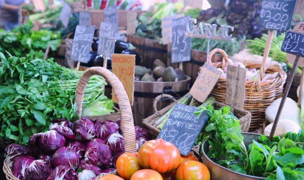 Market fresh fruit and vegetables