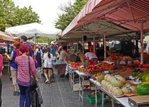 Sunday Markets Brisbane stock image