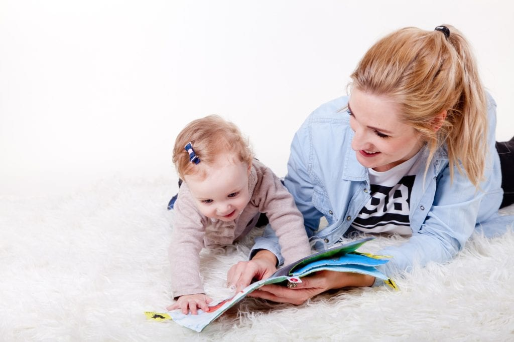 Baby reading fabric book