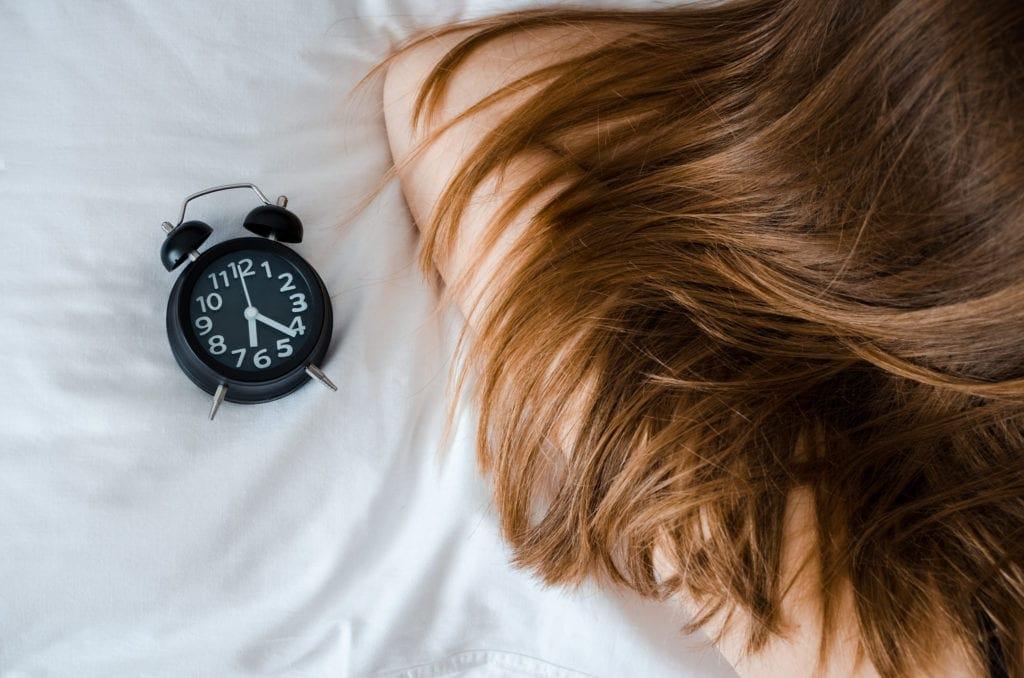 Teen sleeping alarm clock set