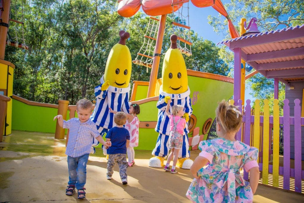 Bananas in Pyjamas at Dreamworld