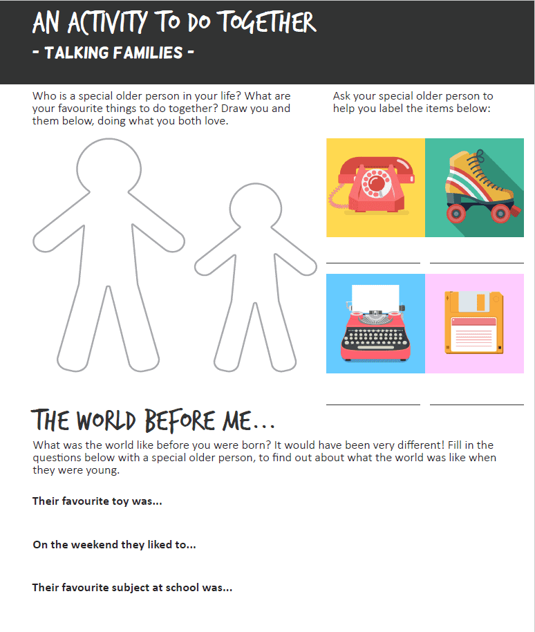 Talking Families Activity