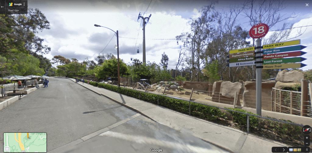 San Diego Zoo Street View