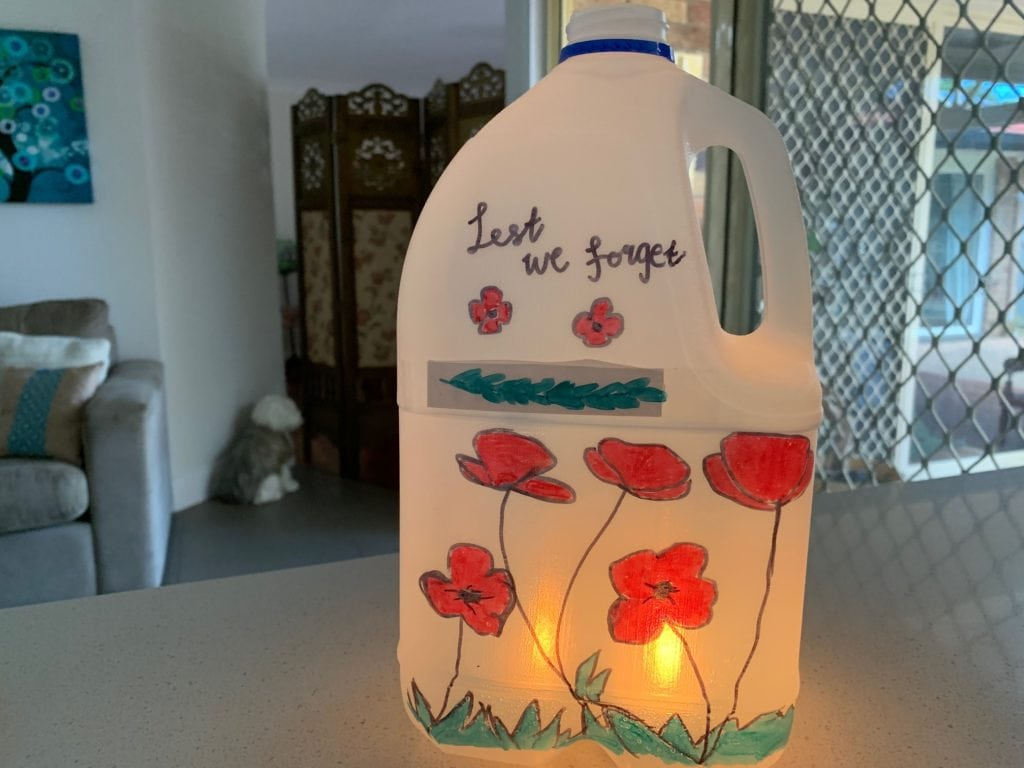 ANZAC Day Lantern step 5