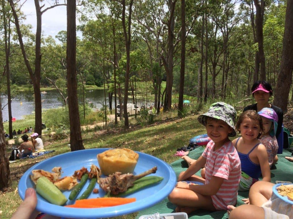 Enogerra Reservoir picnic