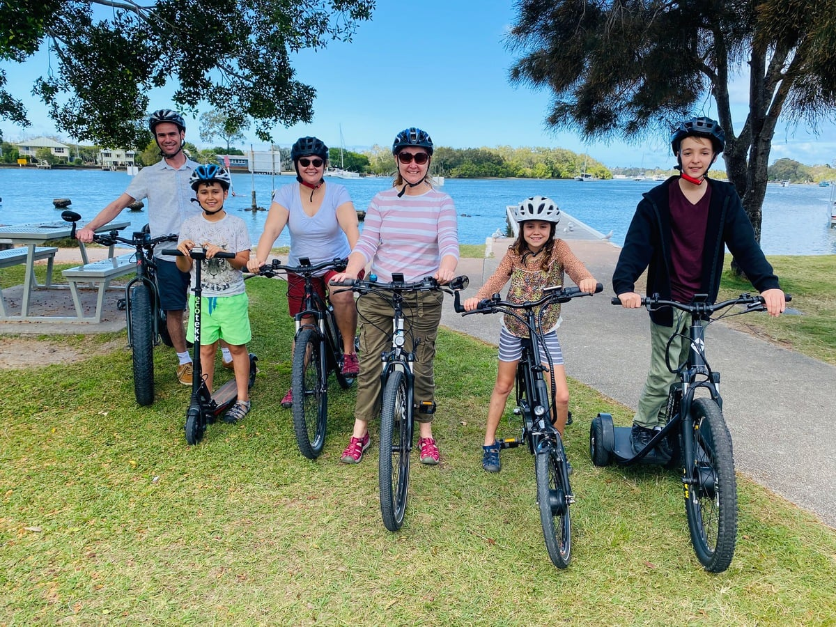 Electric bike riding in Noosa