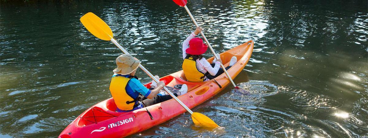 Kayaking at Lota