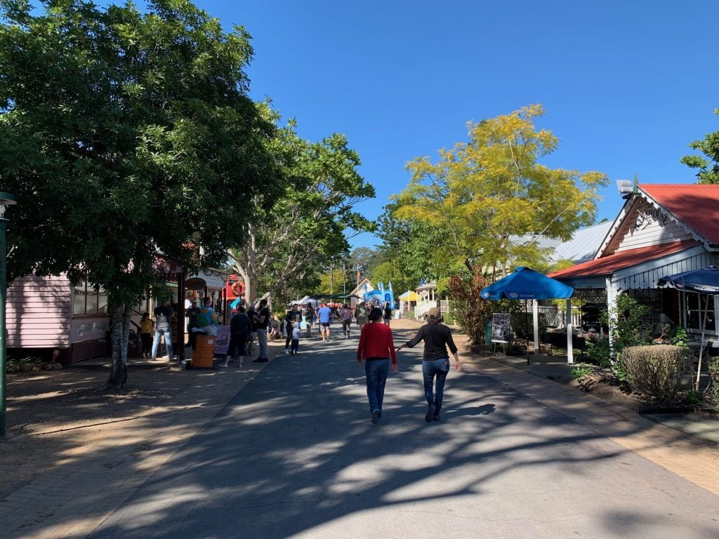 Shopping at Old Petrie Town