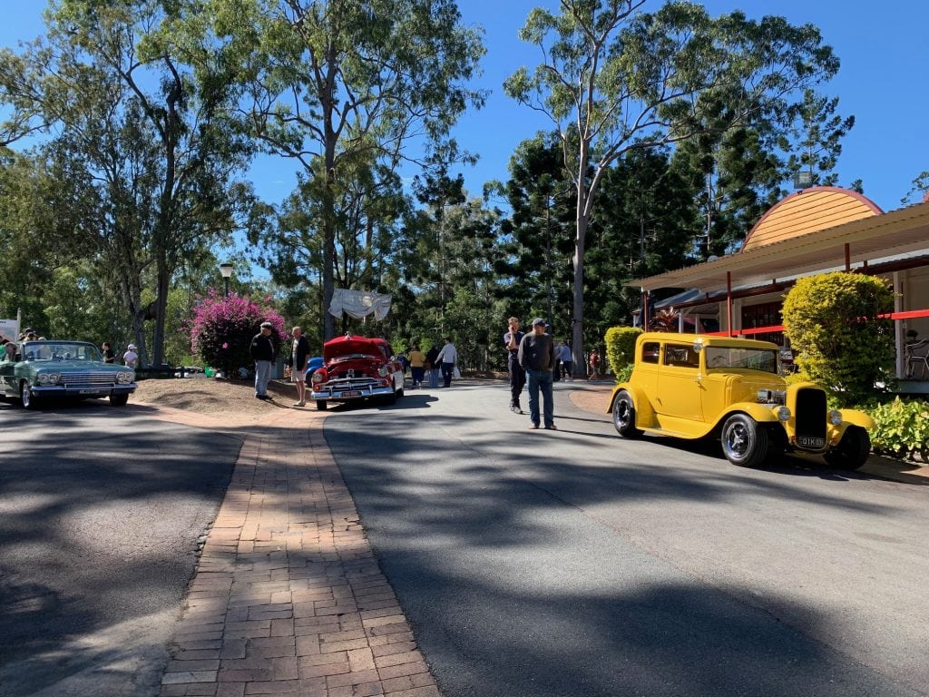 Vintage Cars at Old Petrie Town