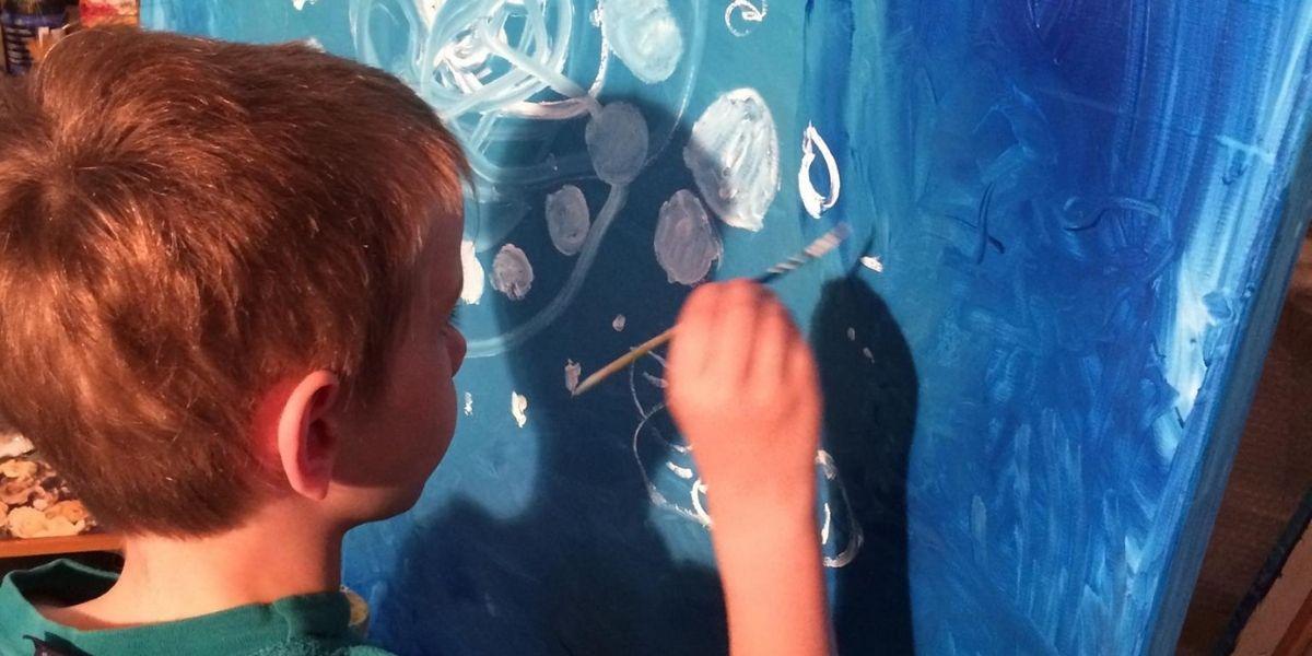 Creative Hearts Art Boy Painting