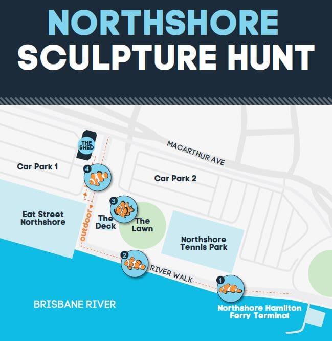 Northshore Sculpture Hunt Map