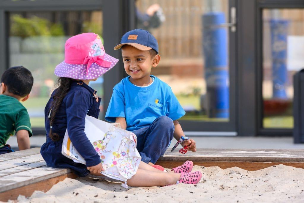 Children becoming friends