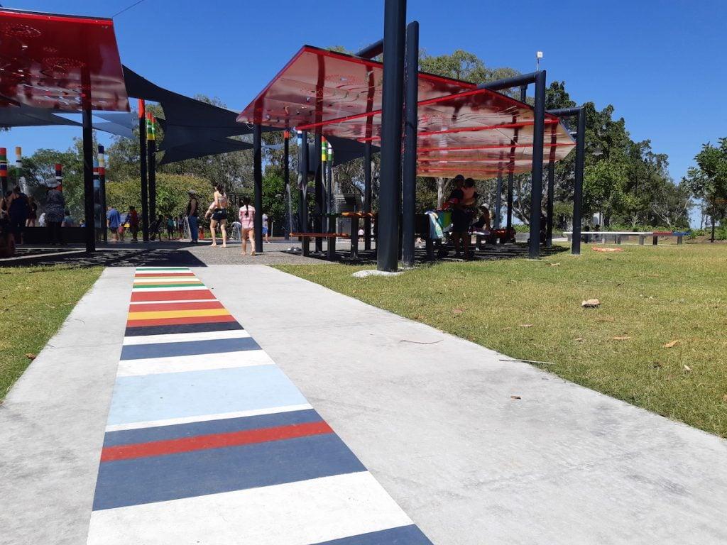 Logan Garden Water Park - entrance and shade