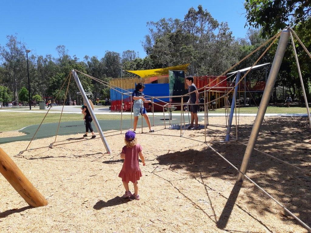 Logan Gardens Water Park - climbing net