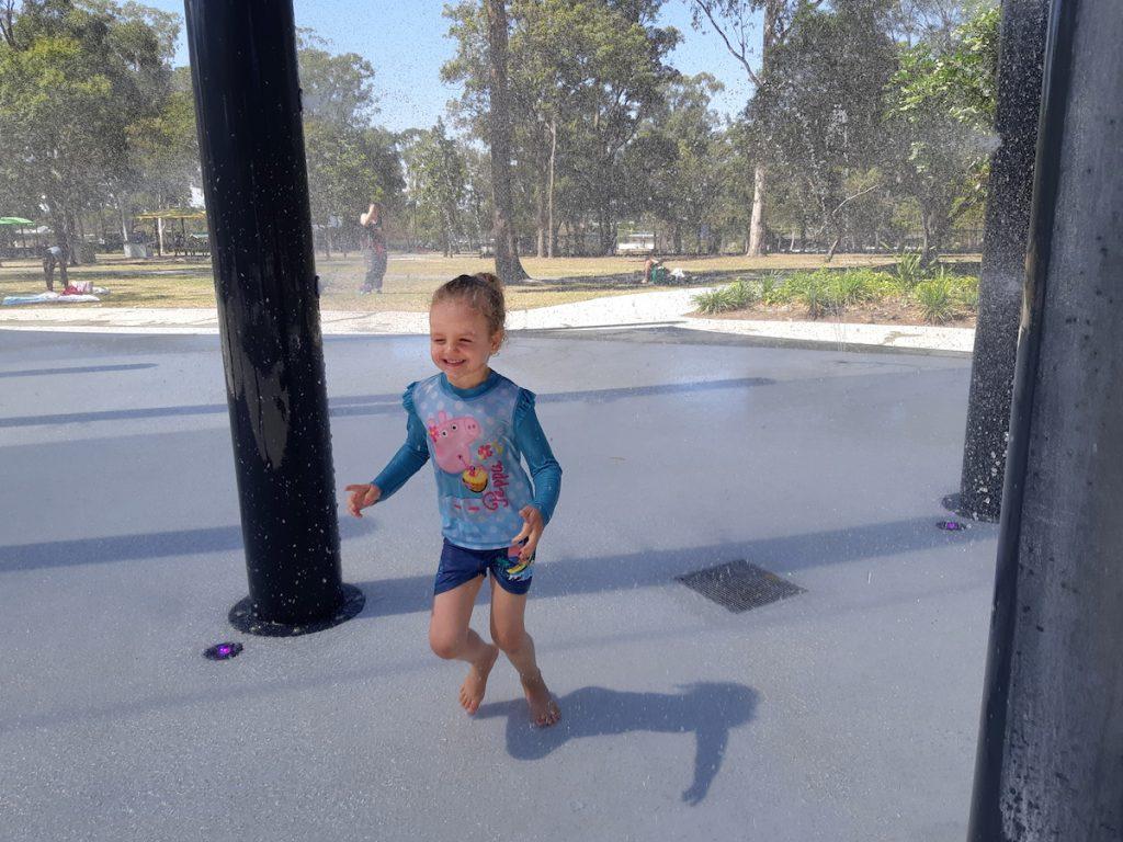 Logan Gardens Water Park - spray poles 2