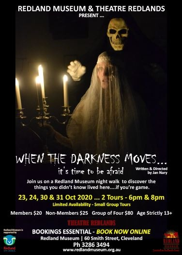 When the Darkness Moves Halloween Night Tour Redlands Museum