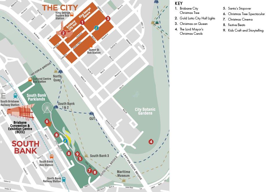 Christmas In Brisbane Map 2020