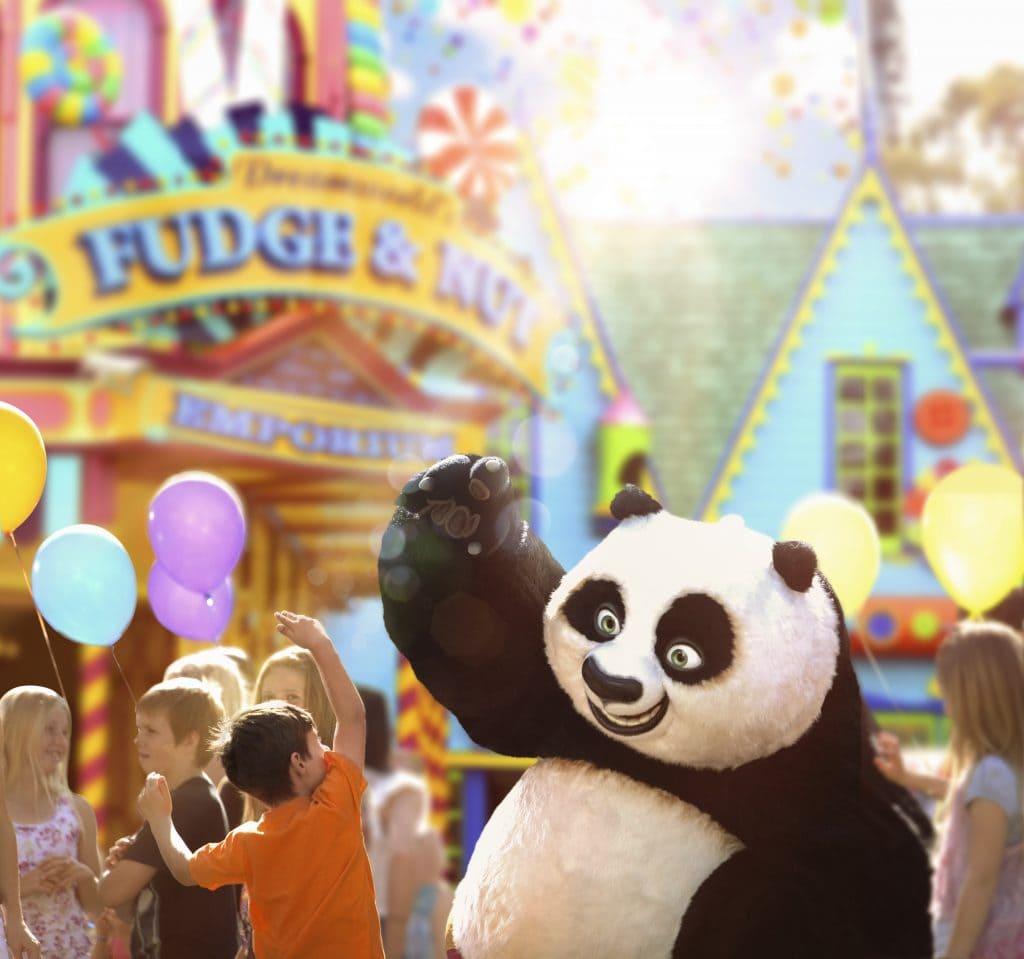 Kung Fu panda mascot at Dreamworld