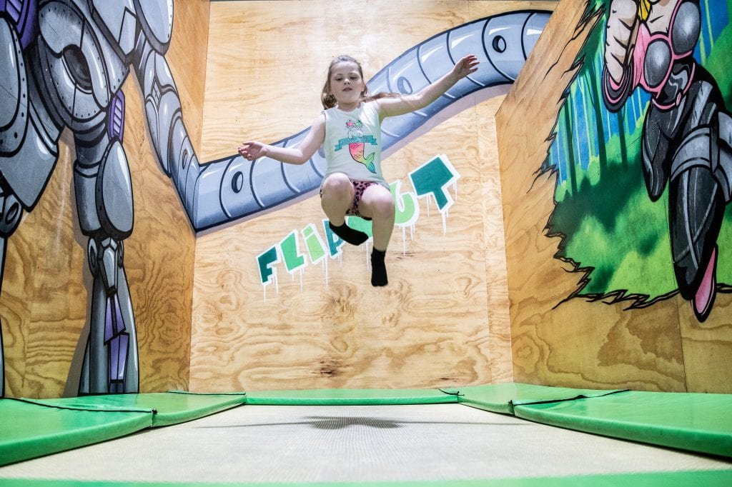 Child trampolining at Flip Out Strathpine