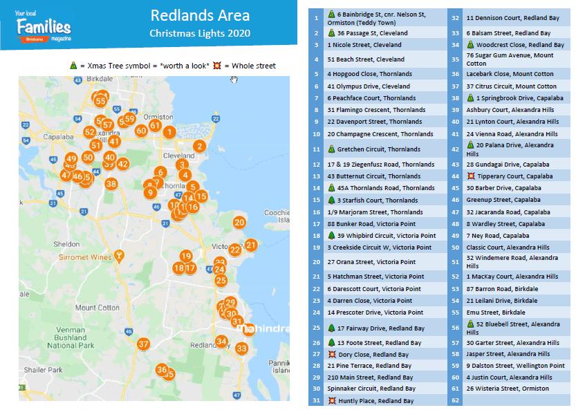 Redlands & Eastern suburbs Christmas lights 2020
