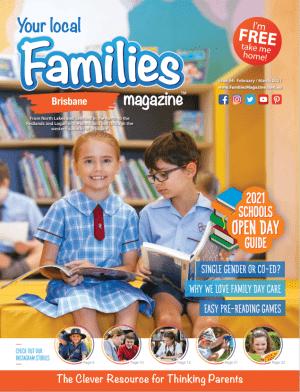 Families Magazine issue 44 cover, Feb/Mar 2021