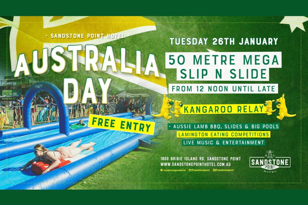 Australia Day Slip N Slide Sandstone Point Hotel