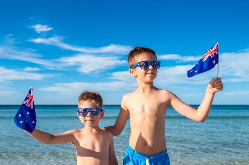 australia day with kids beachside