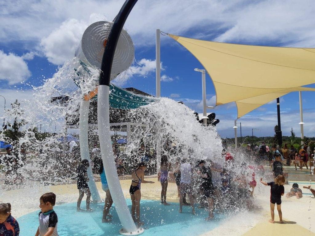 The Mill waterpark splash bucket