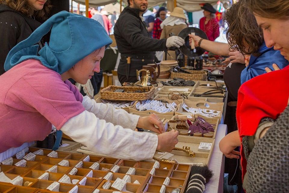 Abbey Medieval Festival market