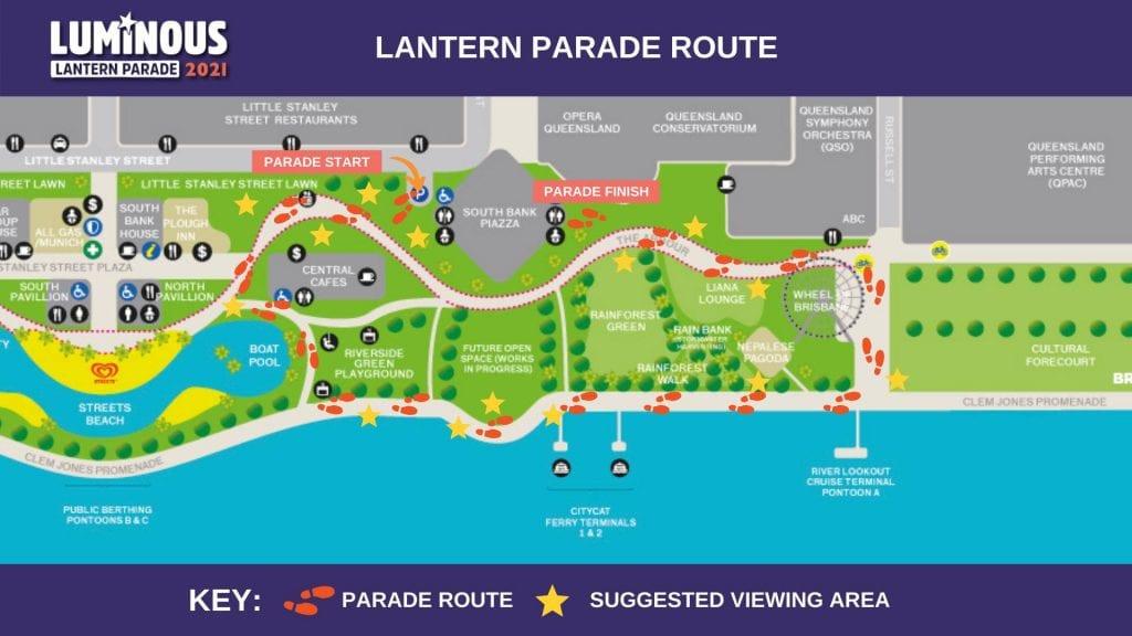 Luminous Lantyern Parade Route