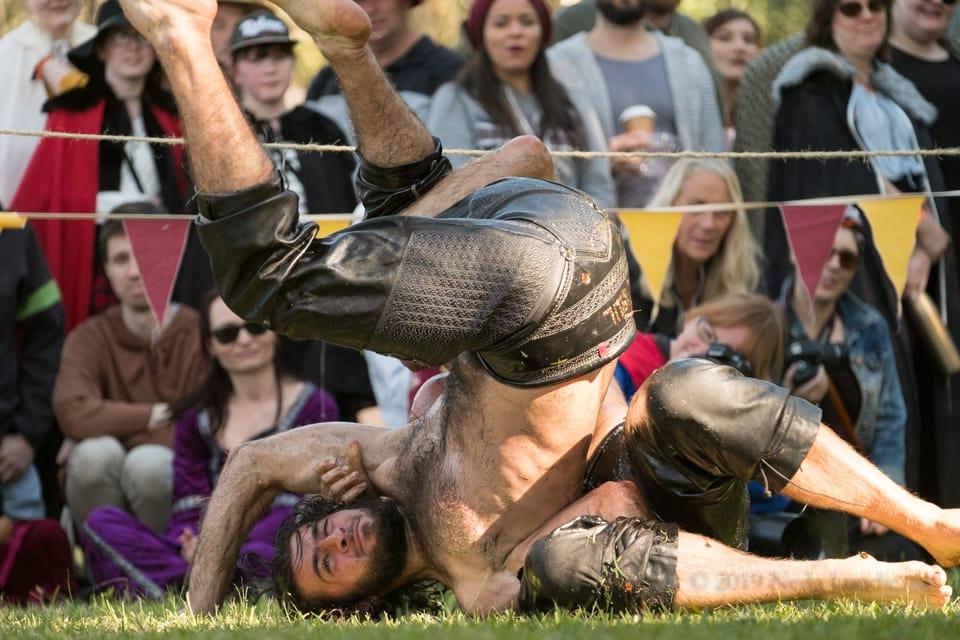 Abbey Medieval Festival Turkish Oil Wrestling