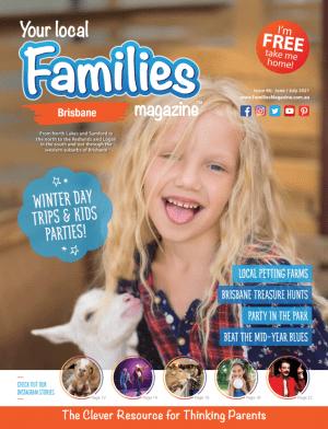 Families Magazine Brisbane June July 2021 cover