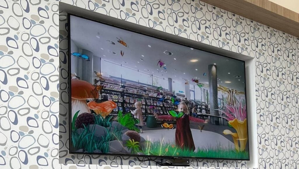 Ipswich Children's Library Magic Mirror Close Up