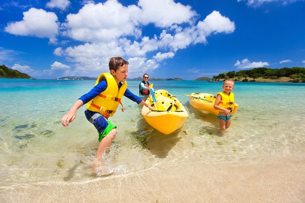Kayaking Brisbane with kids