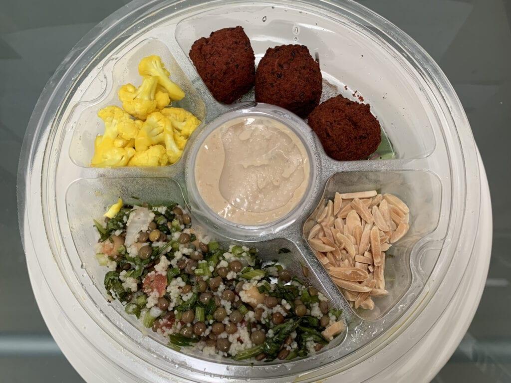 Salad Servers beetroot falafel salad