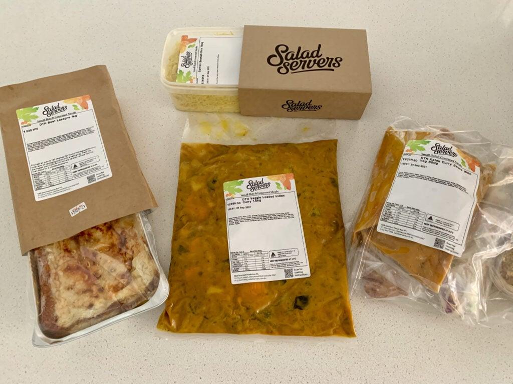 Salad Servers week 2 meal kit